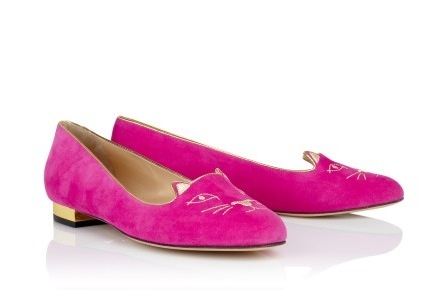 pink charlotte olympia kitty shoes