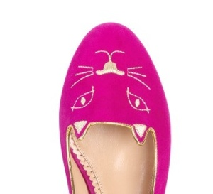 charlotte olympia kitty shoes in pink