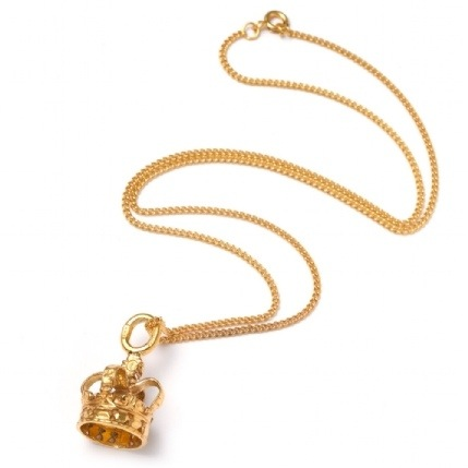 katie mullally crown necklace