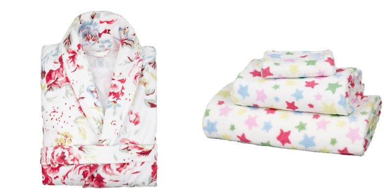 cath kidston bath robe and matching towels - john lewis