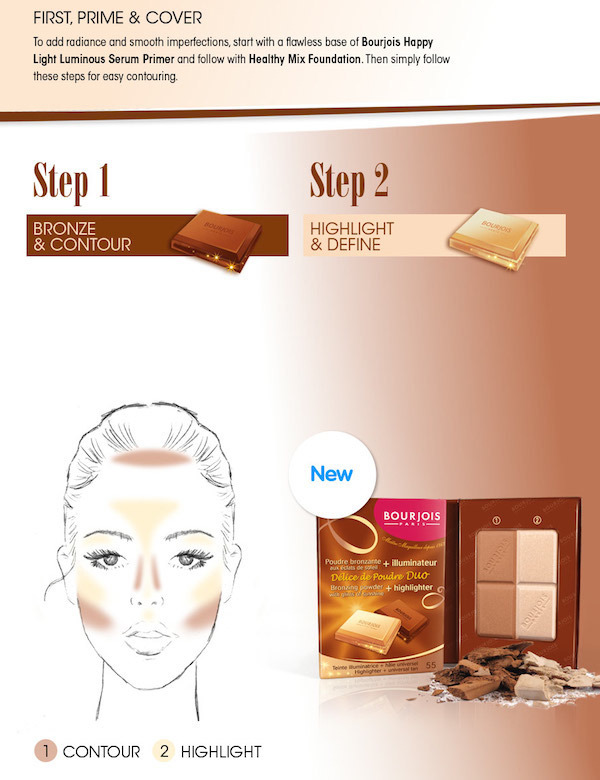 Bourjois guide to contouring and bronzer