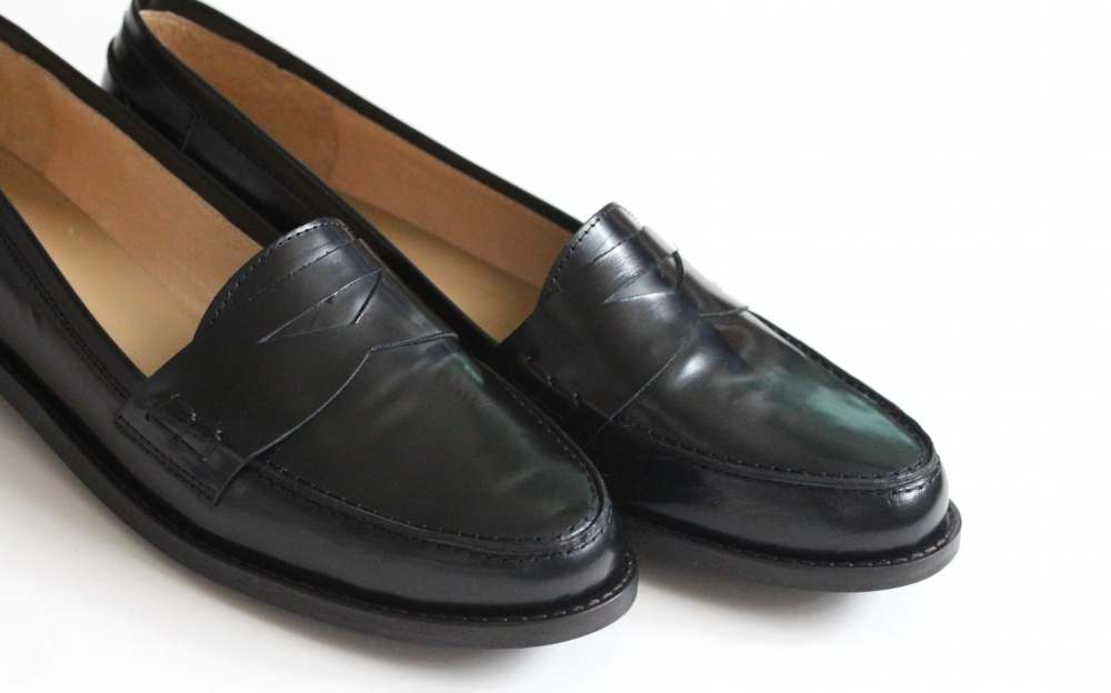 Shop black flat loafers at Neiman Marcus, where you will find free shipping on the latest in fashion from top designers.