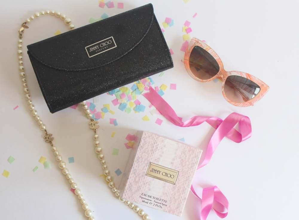 jimmy choo perfume free clutch bag