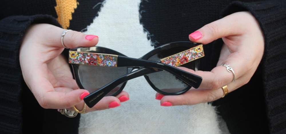 D&G floral flower arm sunglasses