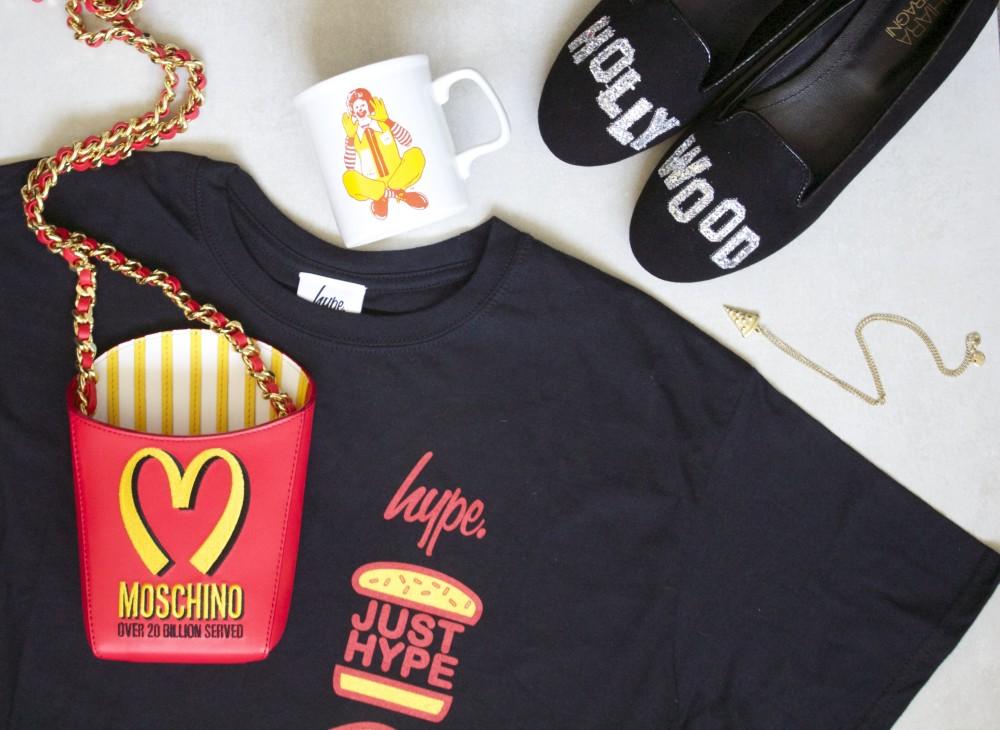 burger themed fashion style mcdonalds jeremy scott moschino cool burger french fries hamburger moschino fashion blogger