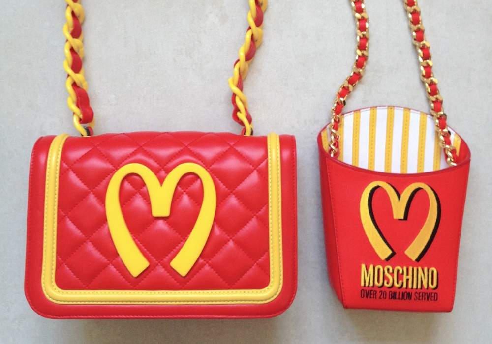 mcdonalds jeremy scott handbags moschino mcdonalds collection uniform fashion chanel style handbag  french fries handbag fashion blogger