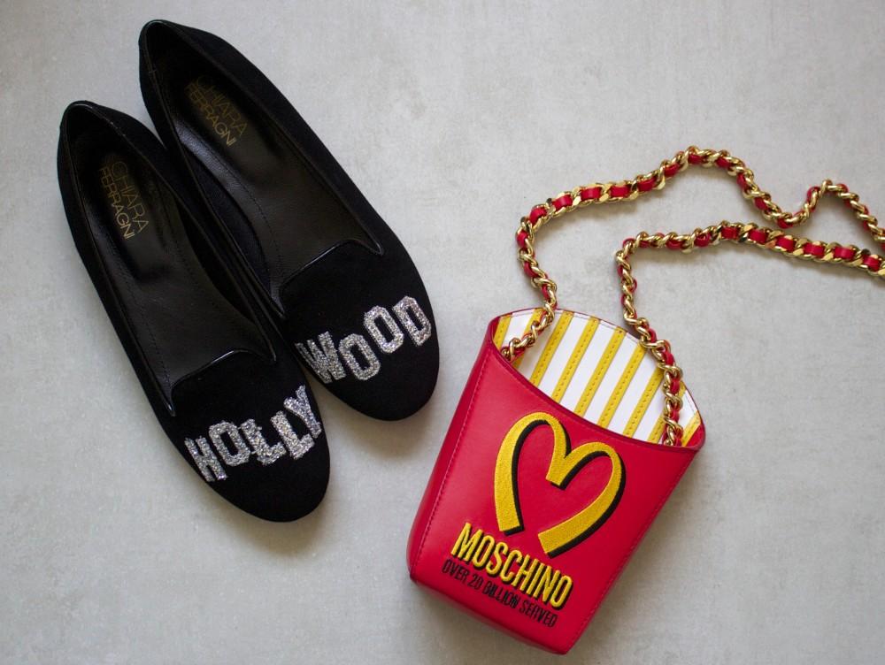 moschino fries handbag chiara ferragami shoes