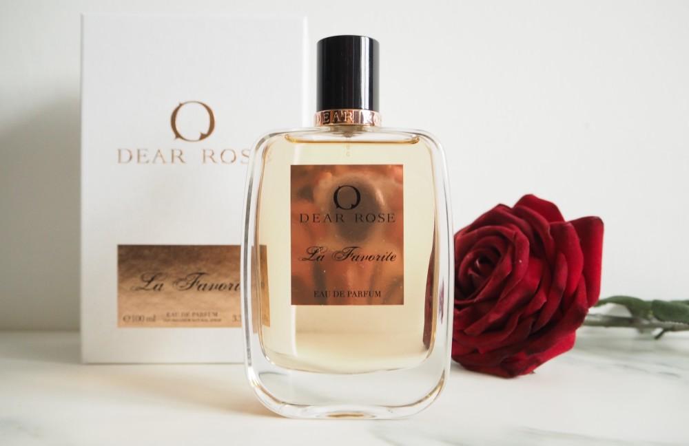 dear rose La Favorite perfume harrods beauty blogger wordpress