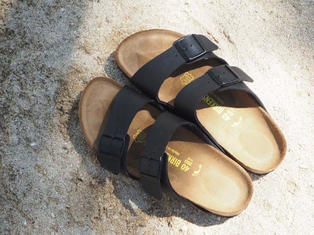 birkinstock sandals black double strap