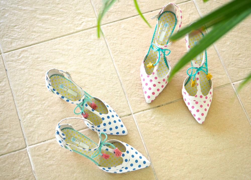 boden polka dot heels shoes