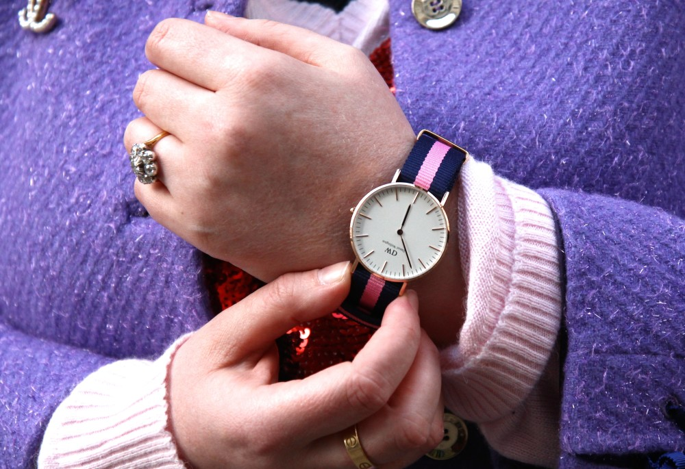 daniel wellington watch pink and blue jack wills style