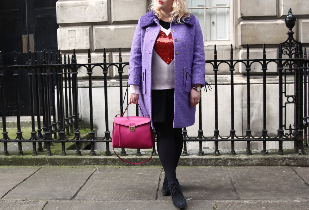 london fashion week street style purple trend