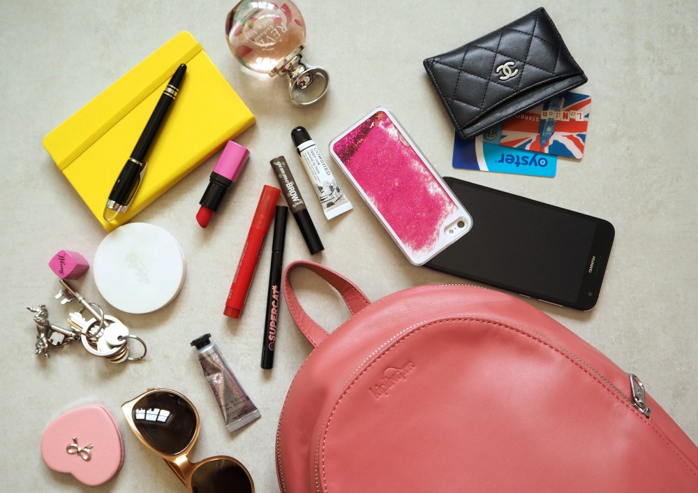 Kipling Yaretzi Lea backpack whats in my handbag fashion blog blogger