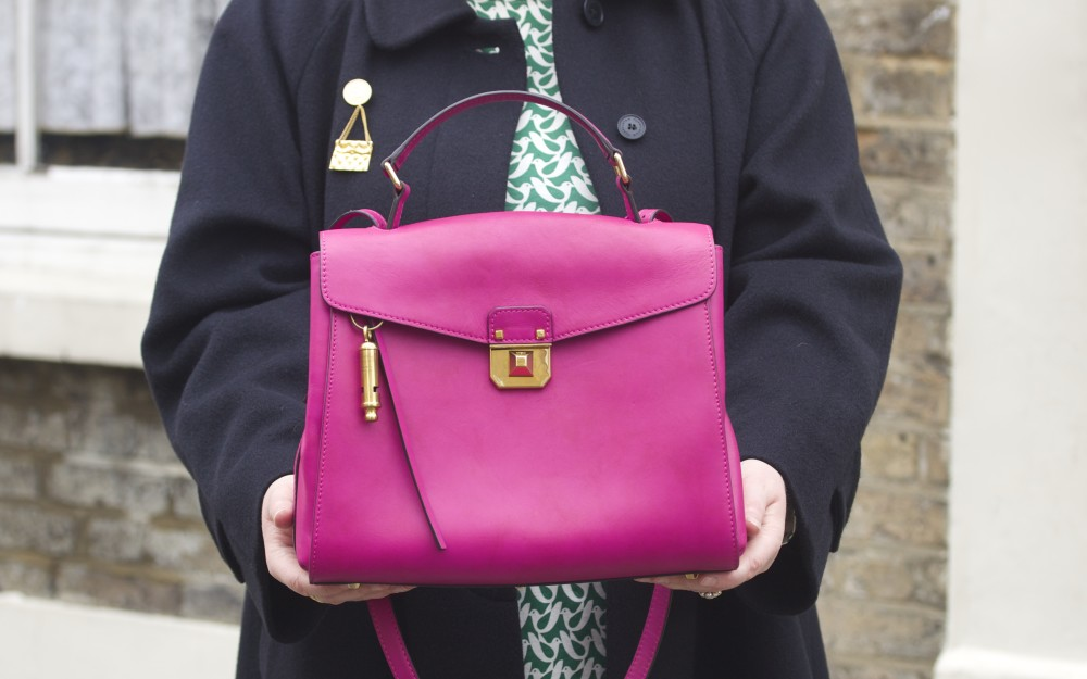 mcm worldwide pink christina handbag kelly bag fashion blogger