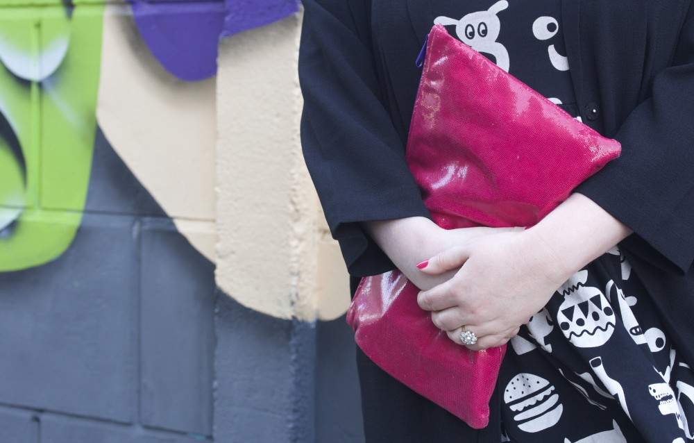 american apparel pink snakeskin pouch clutch bag magenta