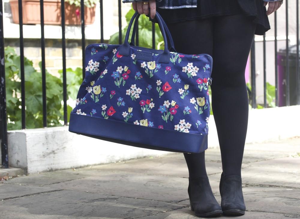 cath kidston floral print handbag overnight travel bag large