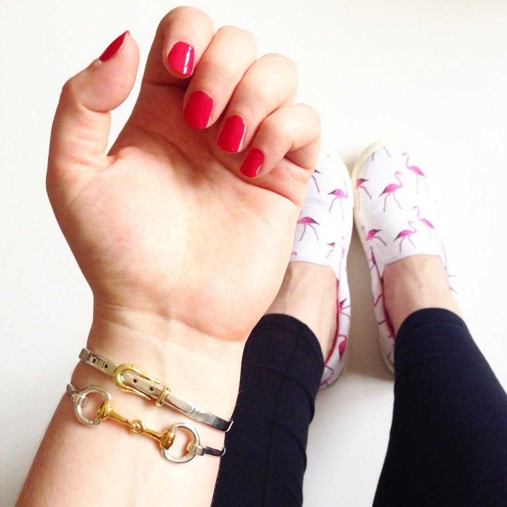 hiho silver snaffle bracelet and belt bracelet