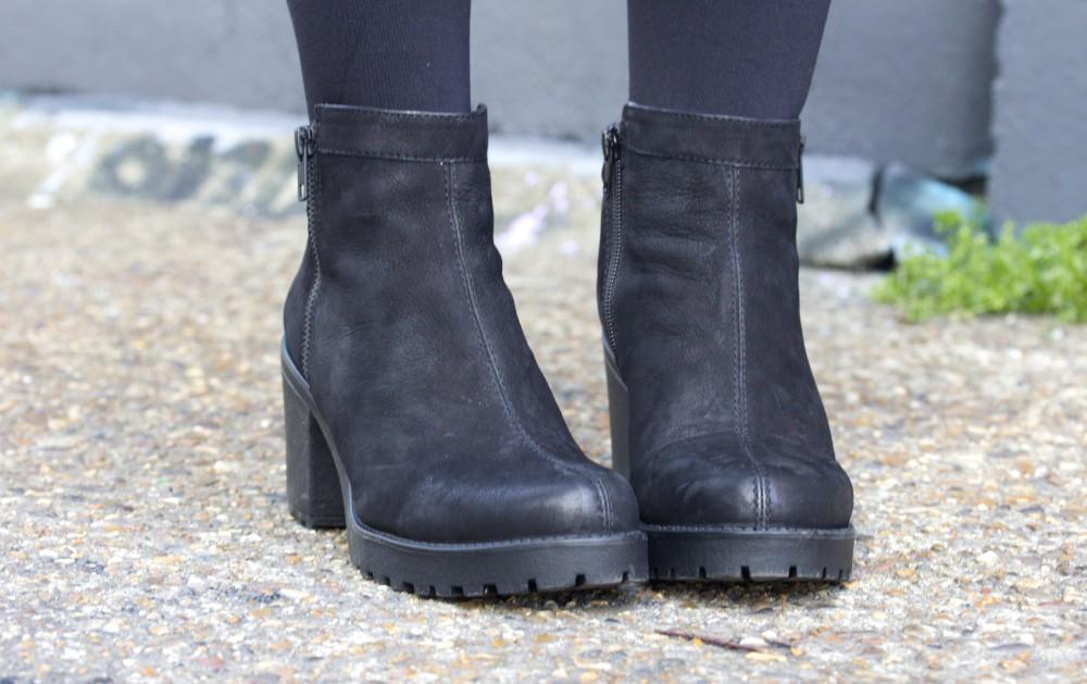 vagabond grace zip boot in black nebuck office carnaby street