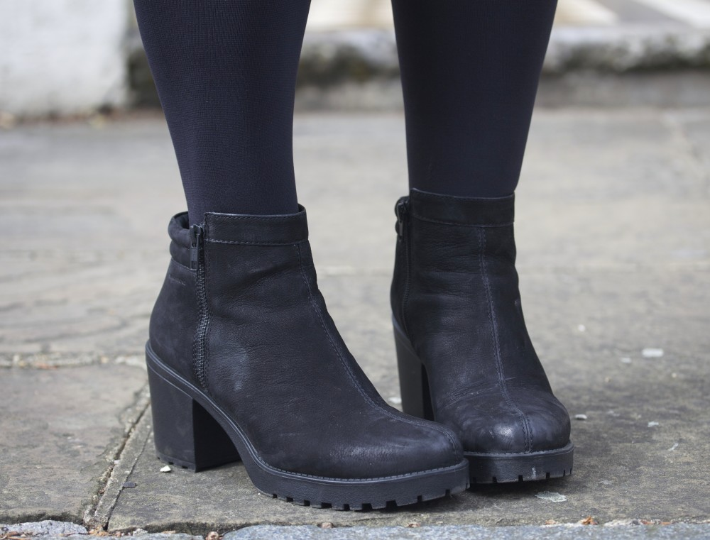 vagabond heels shoes boots black nubuck modern hipster