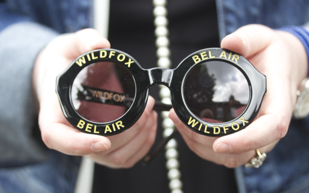 wildfox bel air sunglasses black