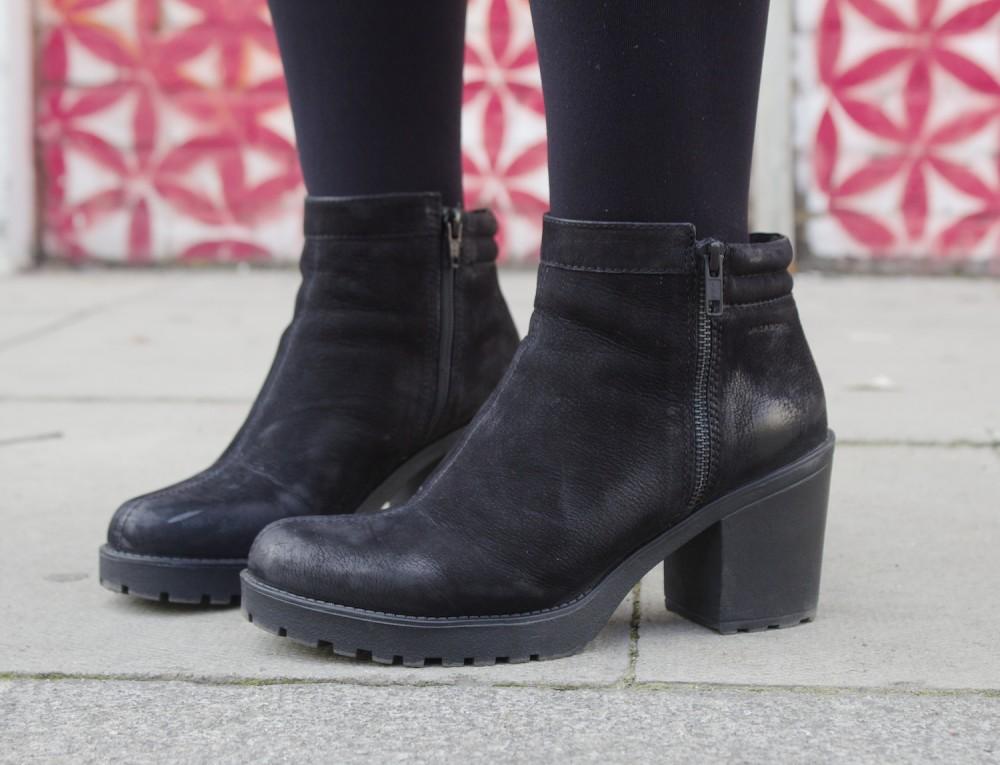 vagabond boots nubuck leather black