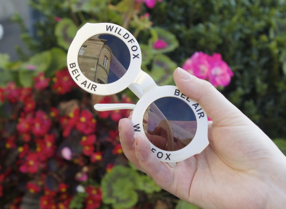 wildfox couture bel air sunglasses white pearl