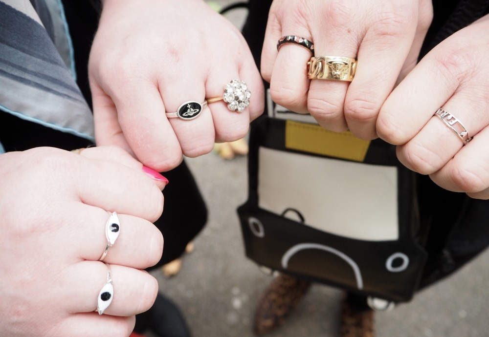 sister twinning twins blog post rings ring vivienne westwood chav chic ring