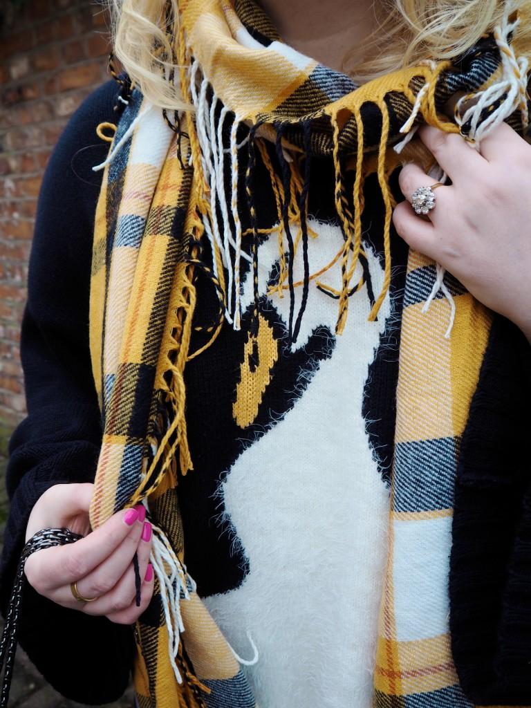 next scarf yellow mustard blanket scarf