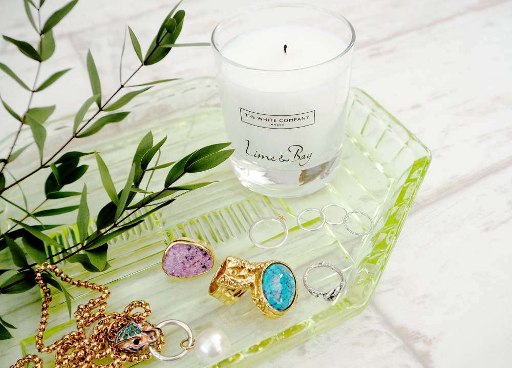 the white company lime and bay candle collection