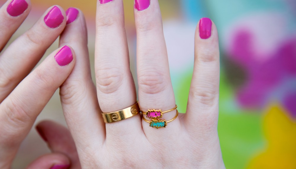 laura gravestock bam pow ring cartier love ring