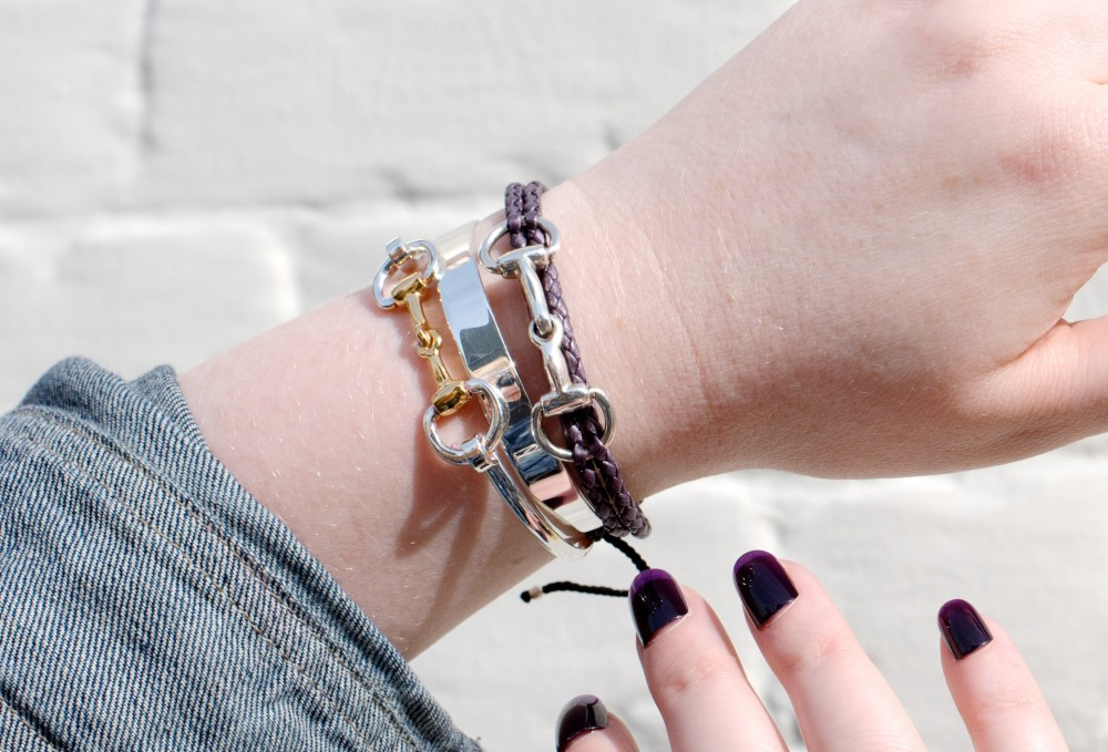 hiho silver snaffle bracelets