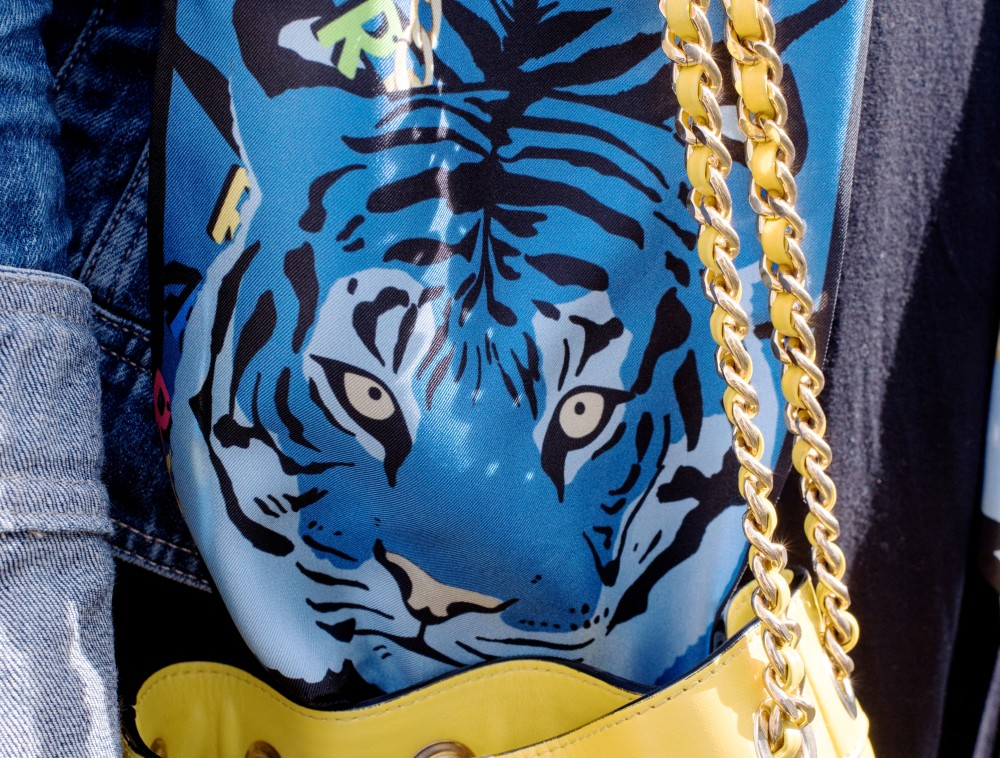 blue tiger scarf cleo ferin mercury animal scarf