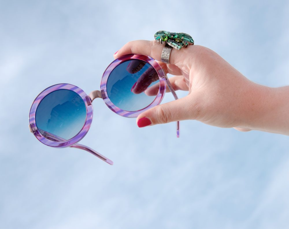 round oversized wildfox sunglasses purple lilac