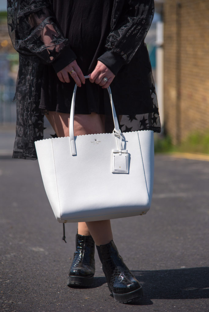 white Kate Spade New York Tote Bag