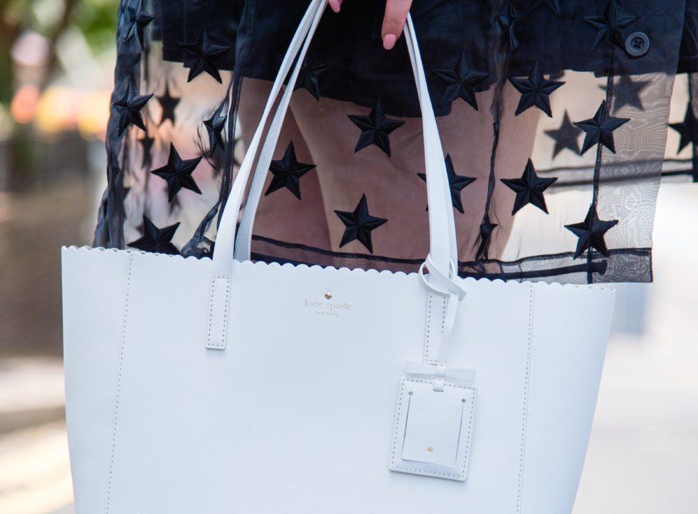 white Kate Spade New York Tote Bag handbag
