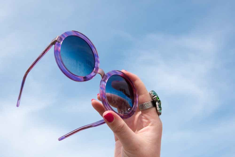 wildfox sunglasses purple round lilac