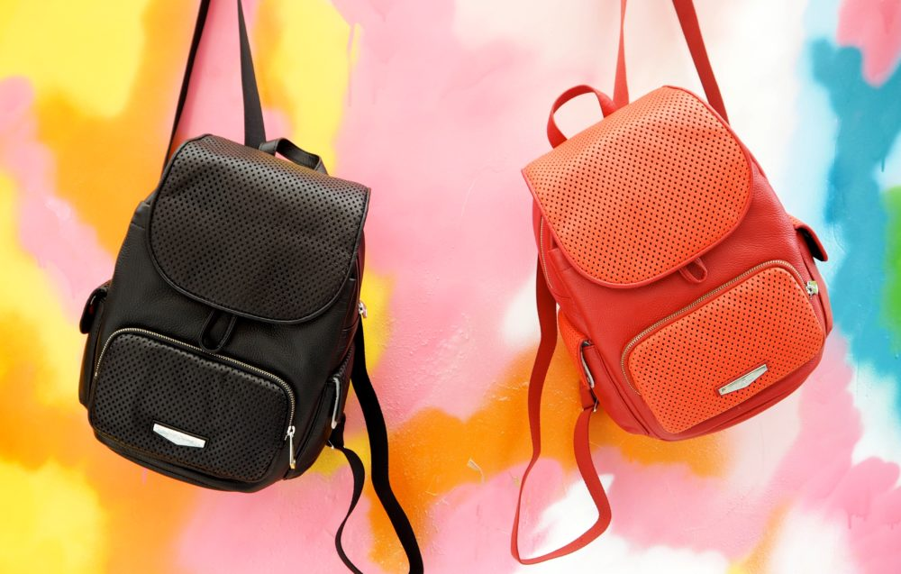kipling-backpack-red-and-back-leather-luxe