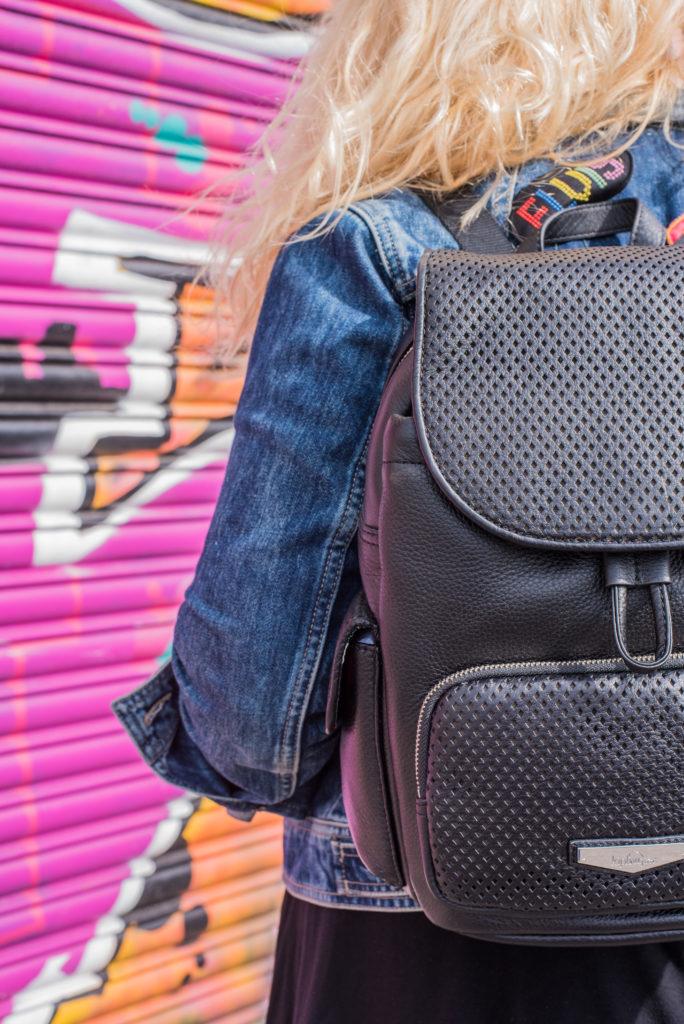 kipling black leather backpack lucury range collection