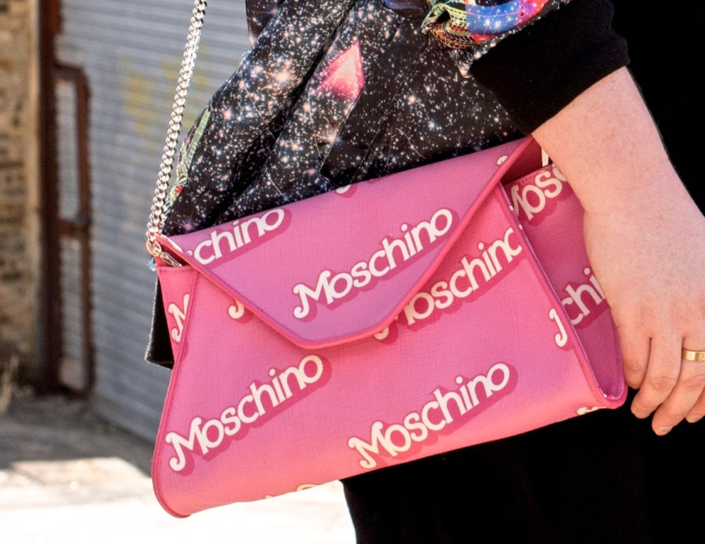 moschino pink handbag barbie jeremy scott