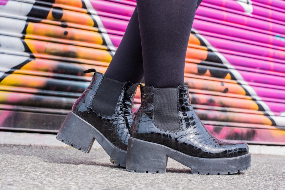 vagabond shoes boots black platforms