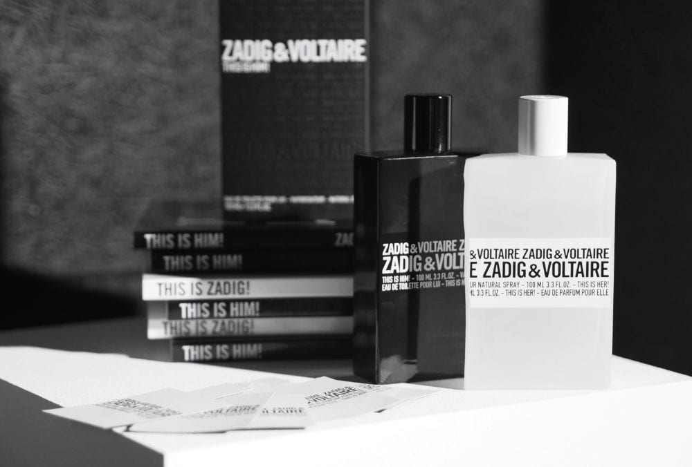 fragrance zadig voltaire 39 this is him 39 and 39 this is her 39 fashion for lunch. Black Bedroom Furniture Sets. Home Design Ideas