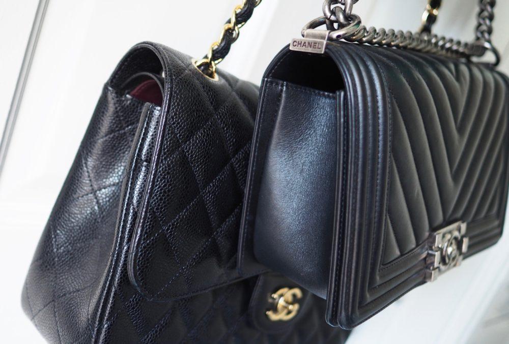 chanel lambskin caviar leather finish