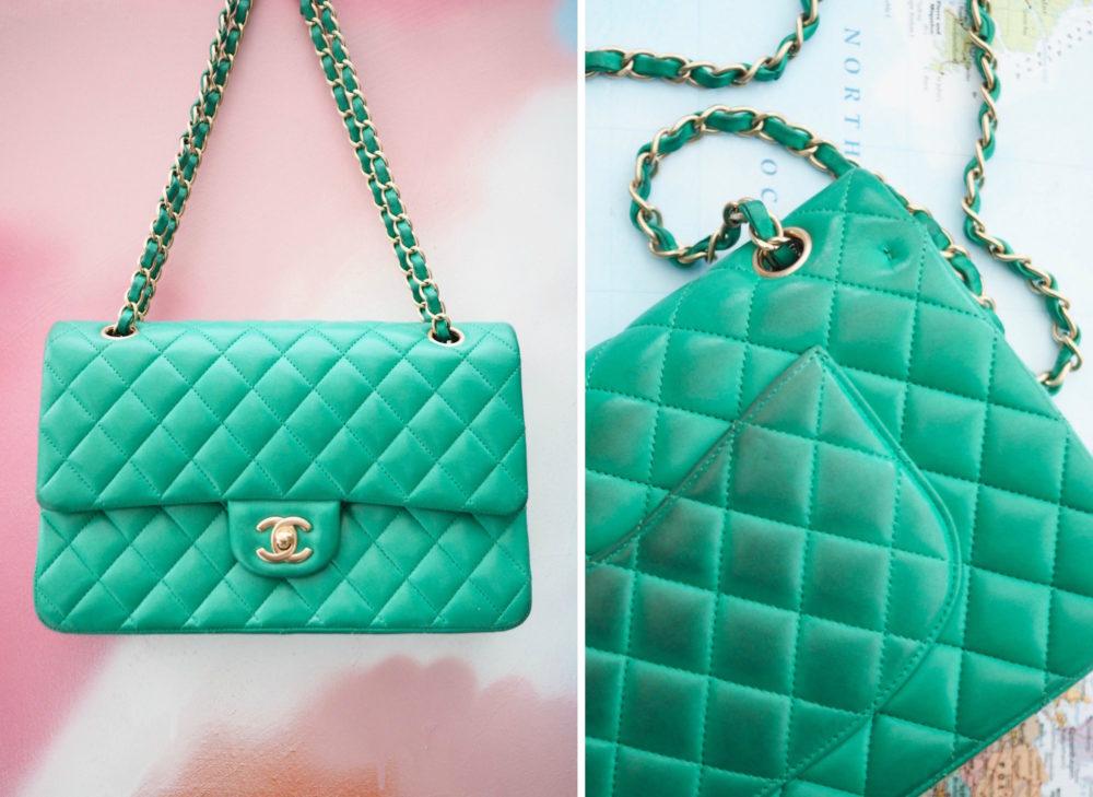 green-chanel-handbag-lambskin