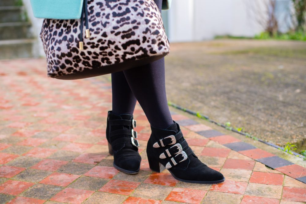 asos black suede buckle boots western style
