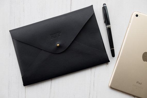 bespoke leather tablet case
