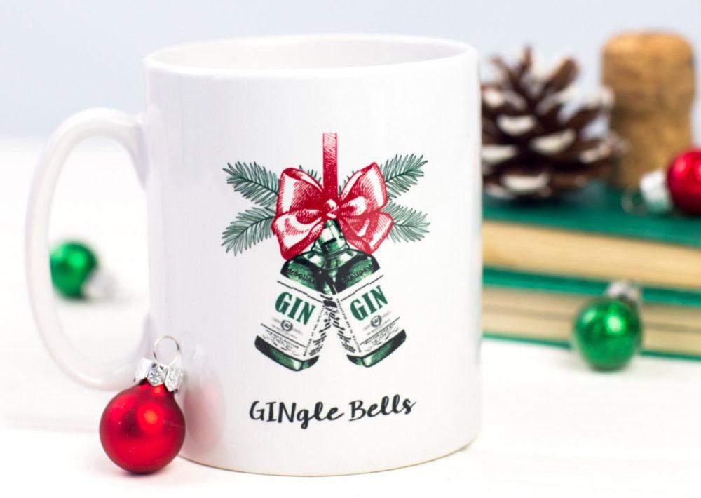 gin christmas mug