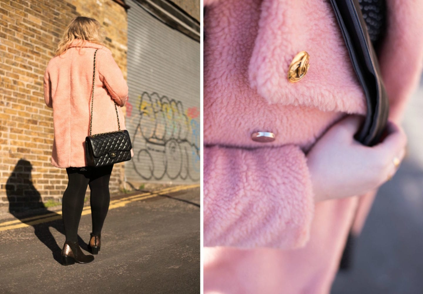 labelsforlunch chanel handbag and pink fur coat