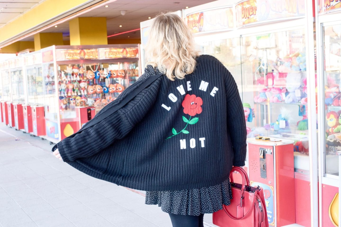 lazy oaf asos forget me not cardigan black