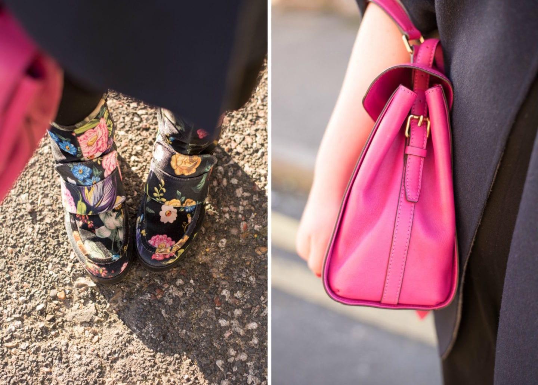next floral velvet boots