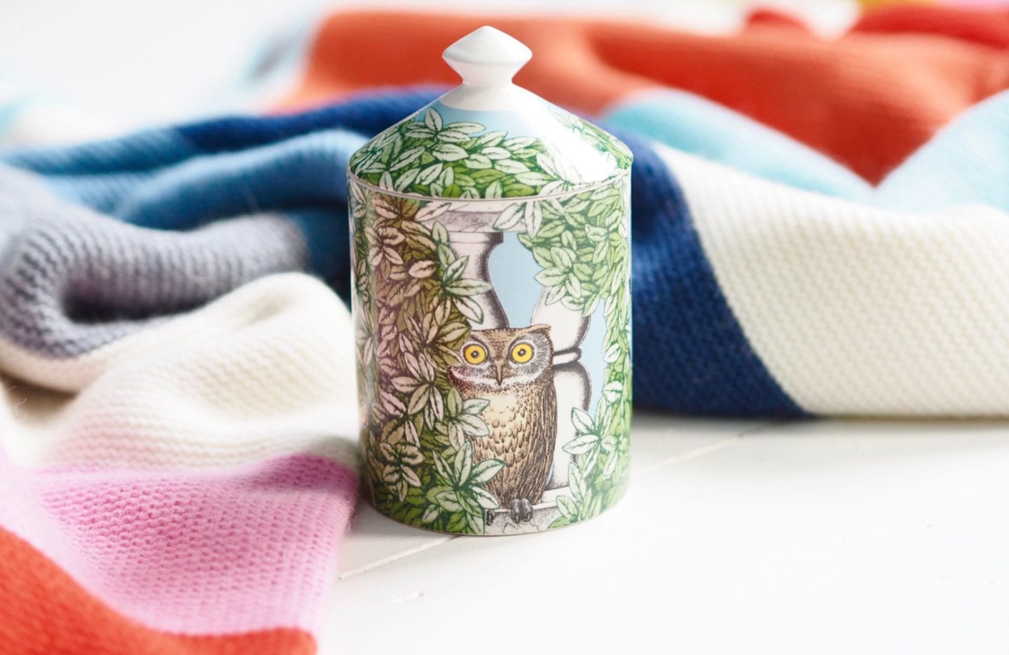 Fornacetti-Candle owl print candle